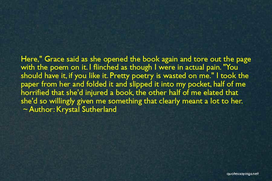 Other Half Of Me Quotes By Krystal Sutherland