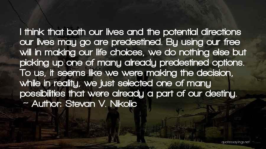 Our Choices In Life Quotes By Stevan V. Nikolic