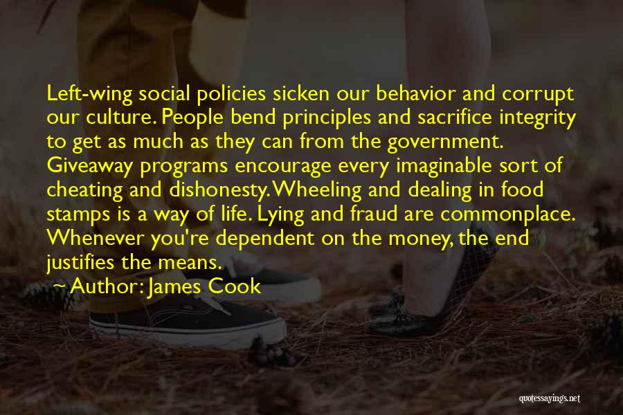 Our Corrupt Government Quotes By James Cook