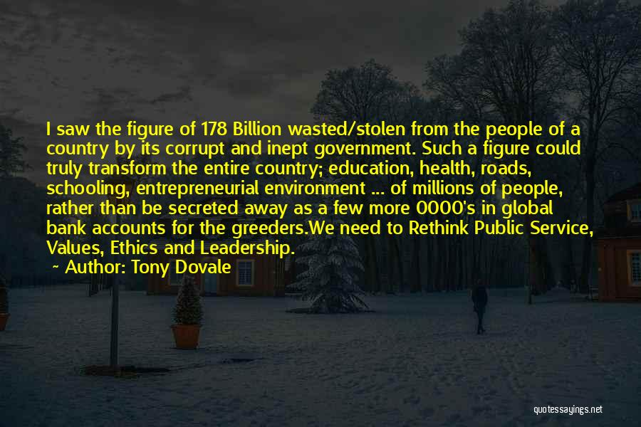 Our Corrupt Government Quotes By Tony Dovale