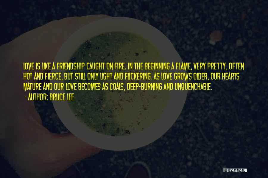 Our Friendship Like Quotes By Bruce Lee