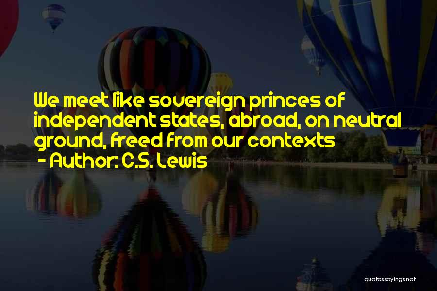 Our Friendship Like Quotes By C.S. Lewis