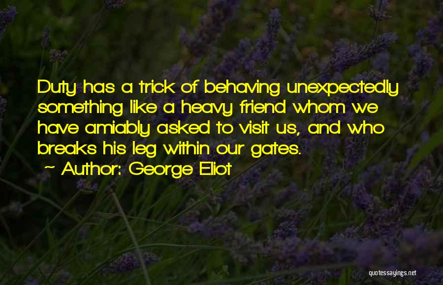 Our Friendship Like Quotes By George Eliot