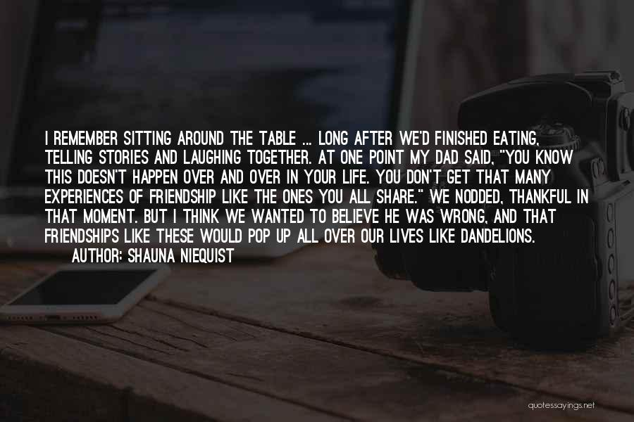 Our Friendship Like Quotes By Shauna Niequist