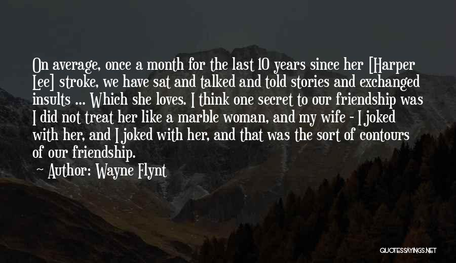 Our Friendship Like Quotes By Wayne Flynt