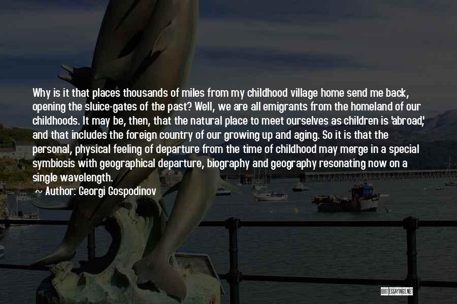 Our Homeland Quotes By Georgi Gospodinov