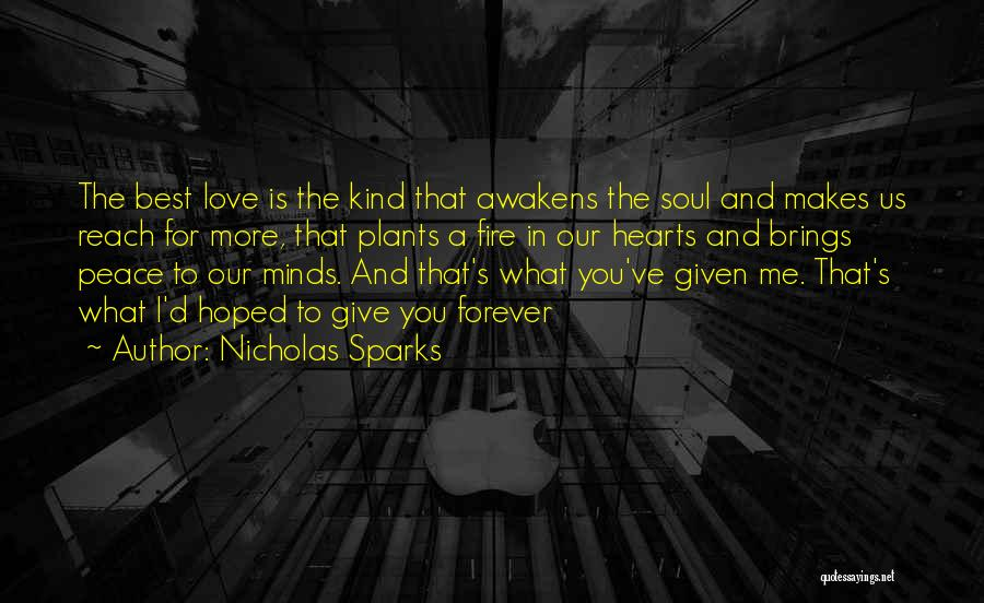 Our Love Is Forever Quotes By Nicholas Sparks