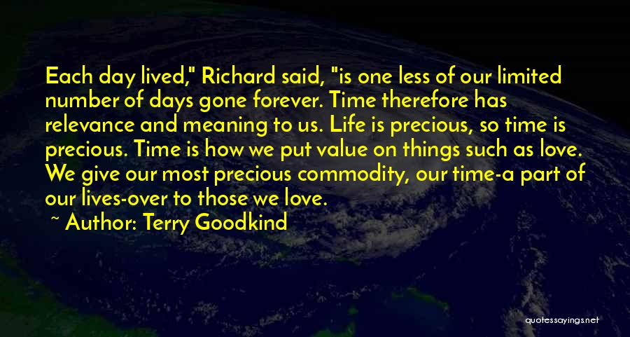 Our Love Is Forever Quotes By Terry Goodkind