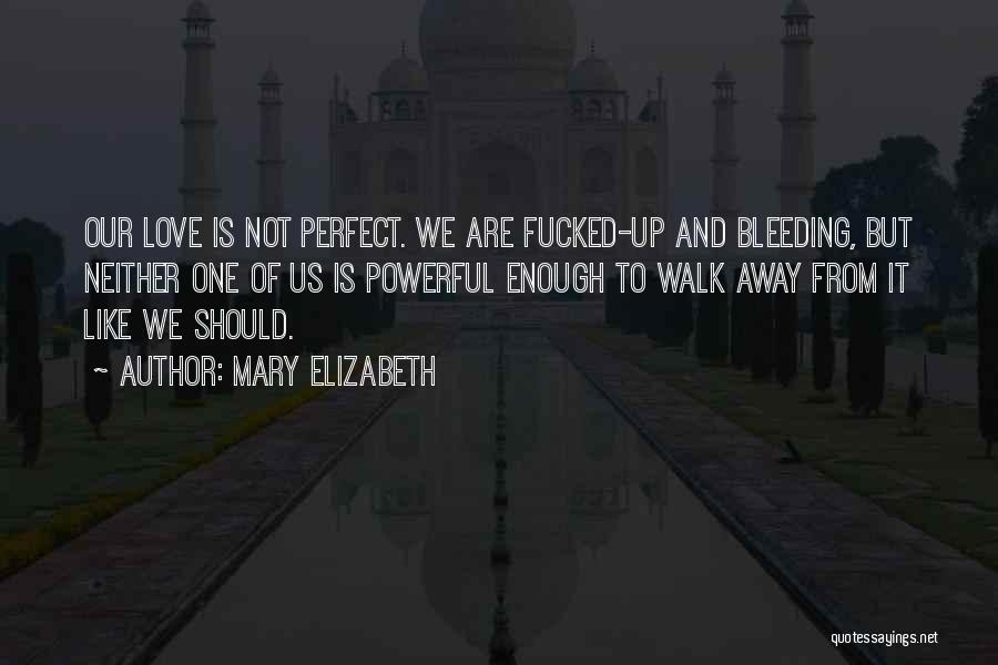 Our Love Is Not Perfect Quotes By Mary Elizabeth