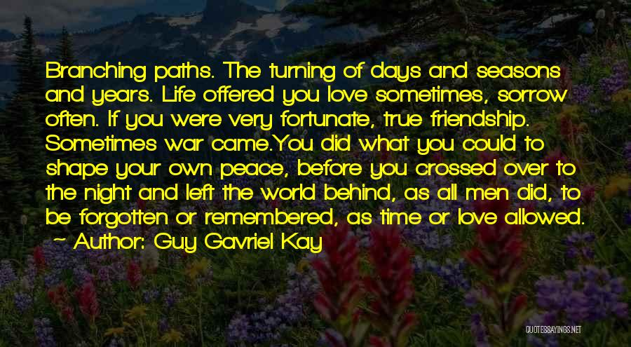 Our Paths Crossed Love Quotes By Guy Gavriel Kay