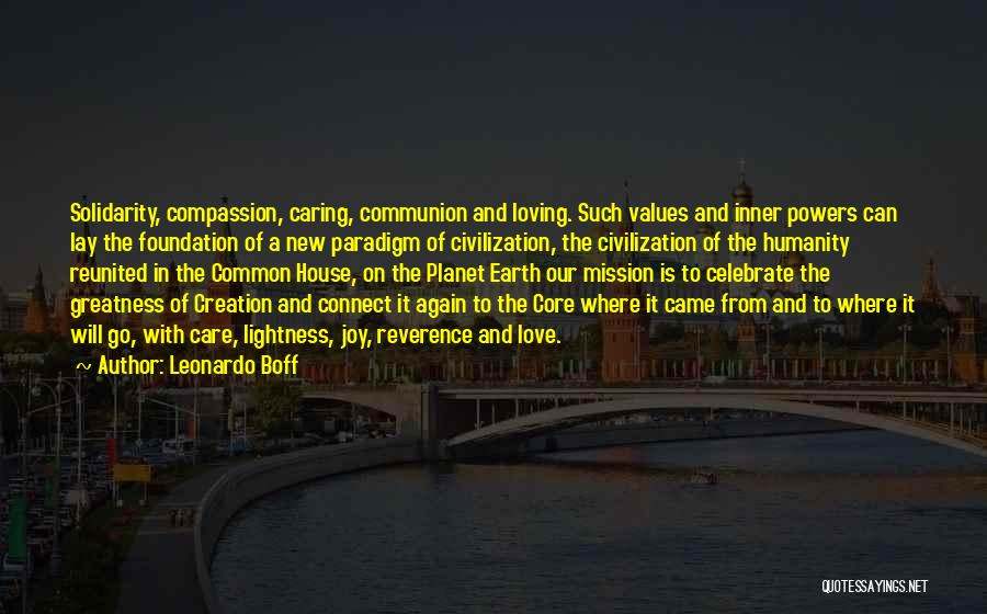 Our Planet Earth Quotes By Leonardo Boff