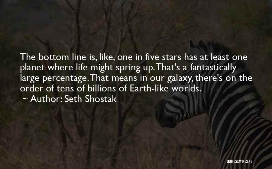 Our Planet Earth Quotes By Seth Shostak