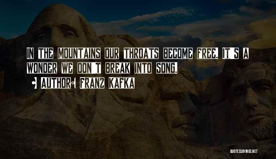Our Song Quotes By Franz Kafka