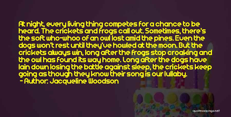 Our Song Quotes By Jacqueline Woodson