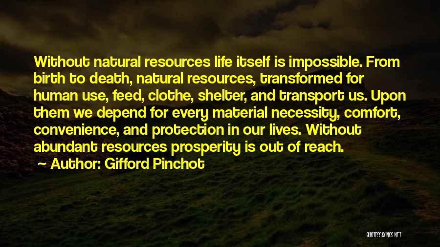 Out Of Necessity Quotes By Gifford Pinchot