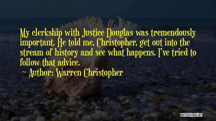 Out To Get Me Quotes By Warren Christopher