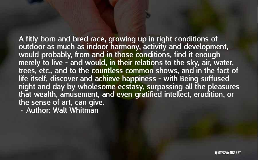 Outdoor Activity Quotes By Walt Whitman