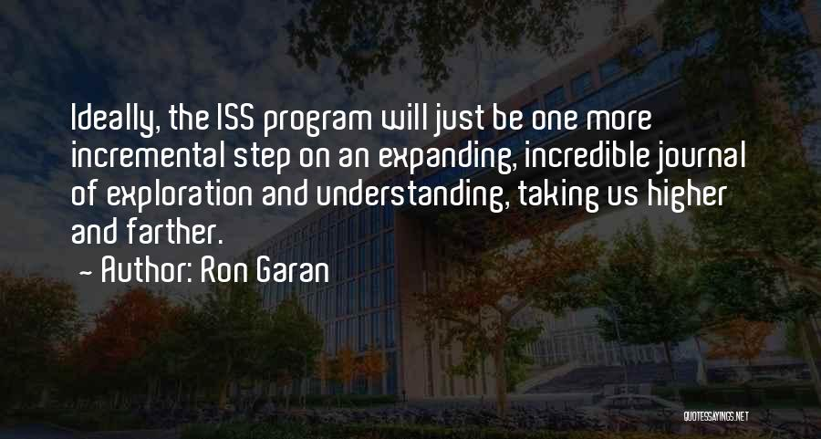 Outer Space Exploration Quotes By Ron Garan