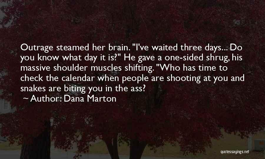 Outrage Quotes By Dana Marton