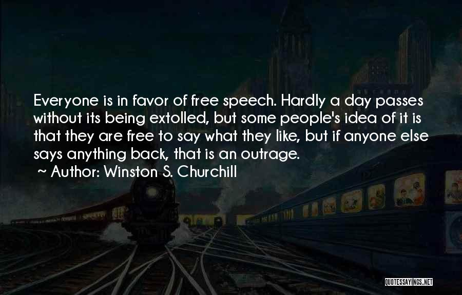 Outrage Quotes By Winston S. Churchill
