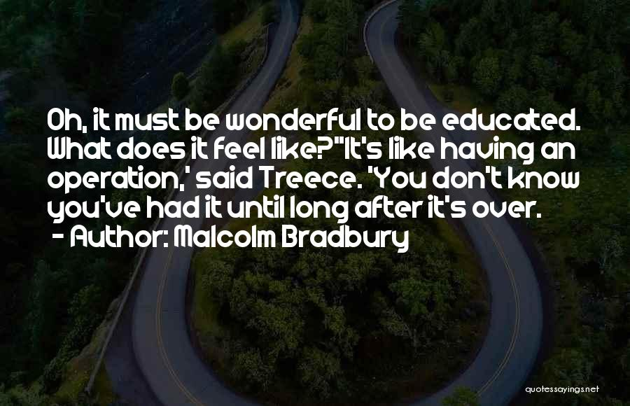 Over Educated Quotes By Malcolm Bradbury