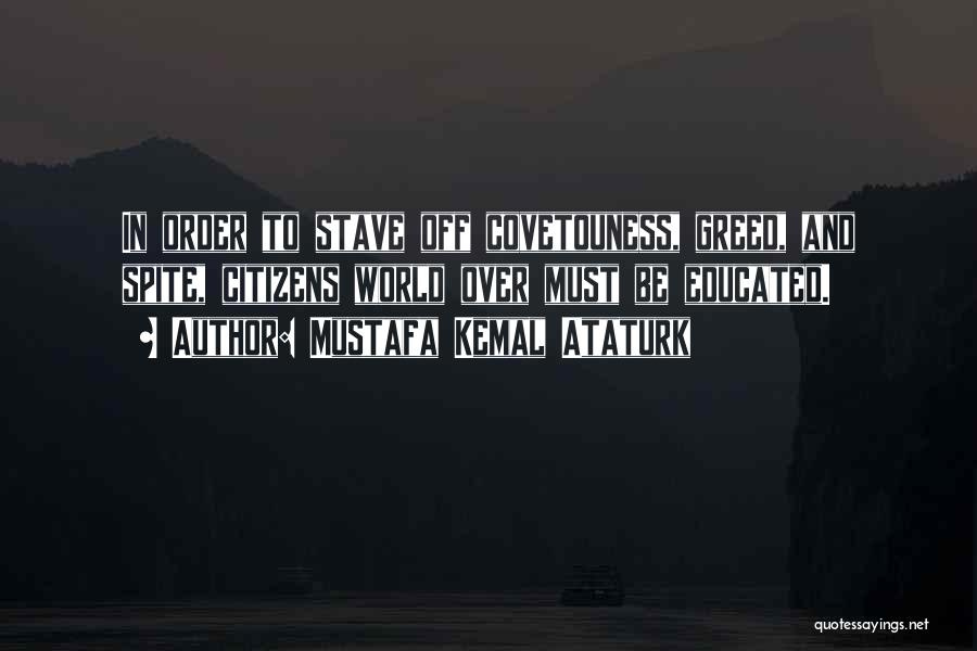Over Educated Quotes By Mustafa Kemal Ataturk