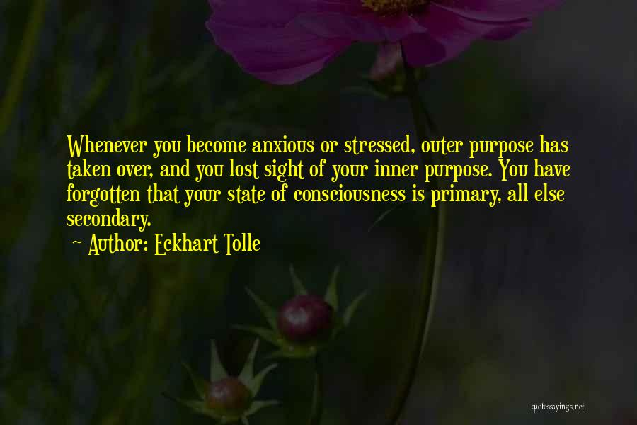 Over Stressed Quotes By Eckhart Tolle
