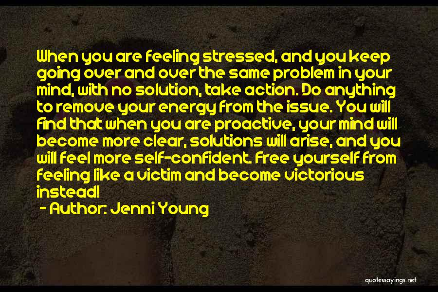 Over Stressed Quotes By Jenni Young