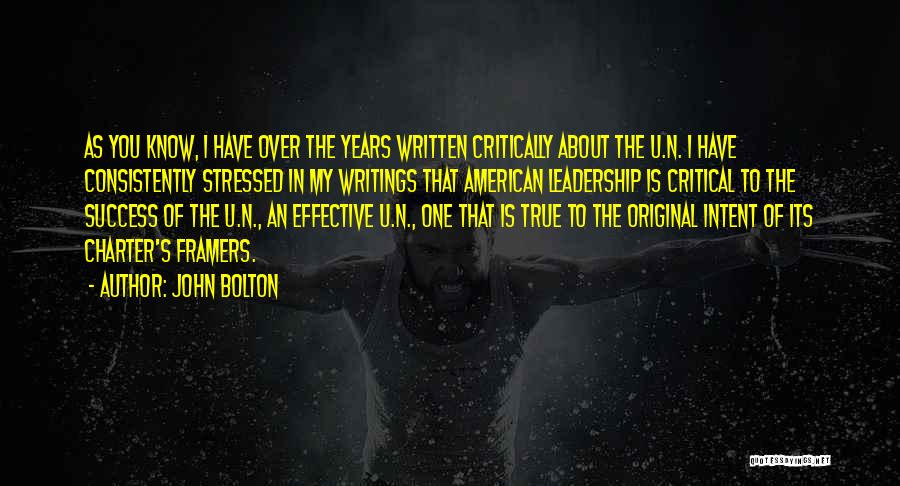Over Stressed Quotes By John Bolton