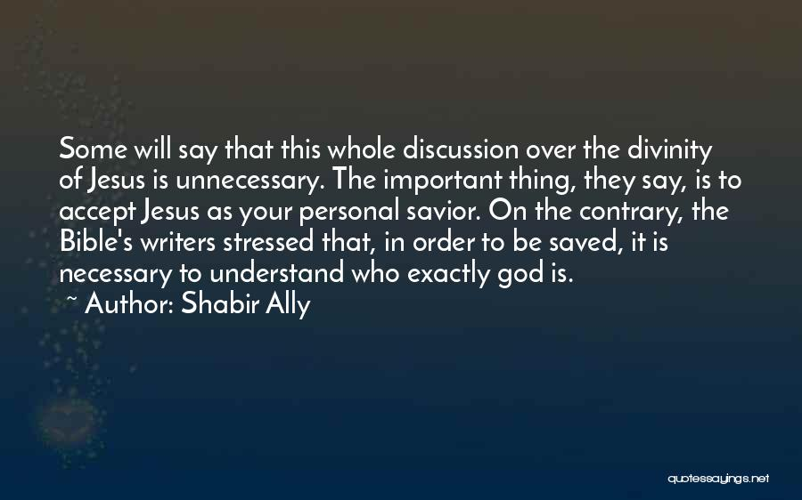 Over Stressed Quotes By Shabir Ally