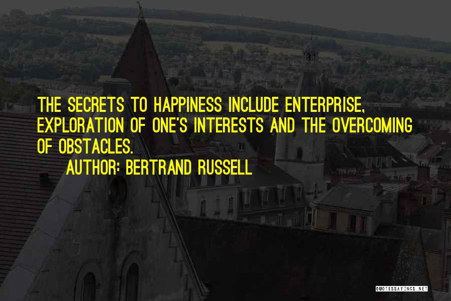 Overcoming Obstacles Quotes By Bertrand Russell