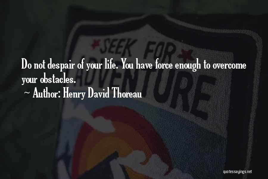Overcoming Obstacles Quotes By Henry David Thoreau