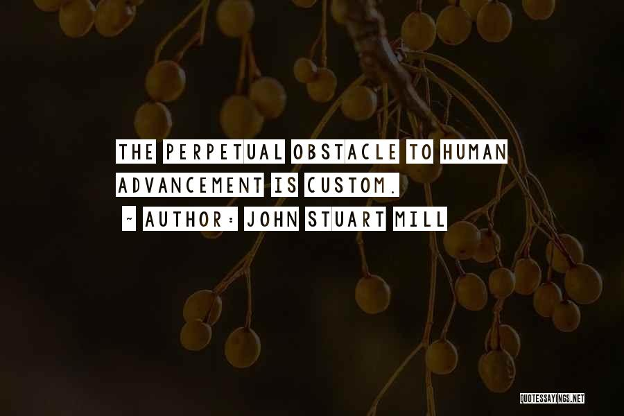 Overcoming Obstacles Quotes By John Stuart Mill
