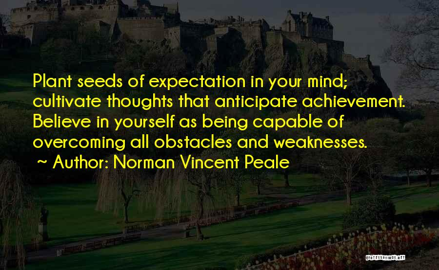 Overcoming Obstacles Quotes By Norman Vincent Peale
