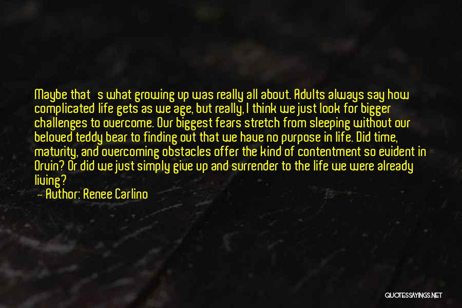 Overcoming Obstacles Quotes By Renee Carlino