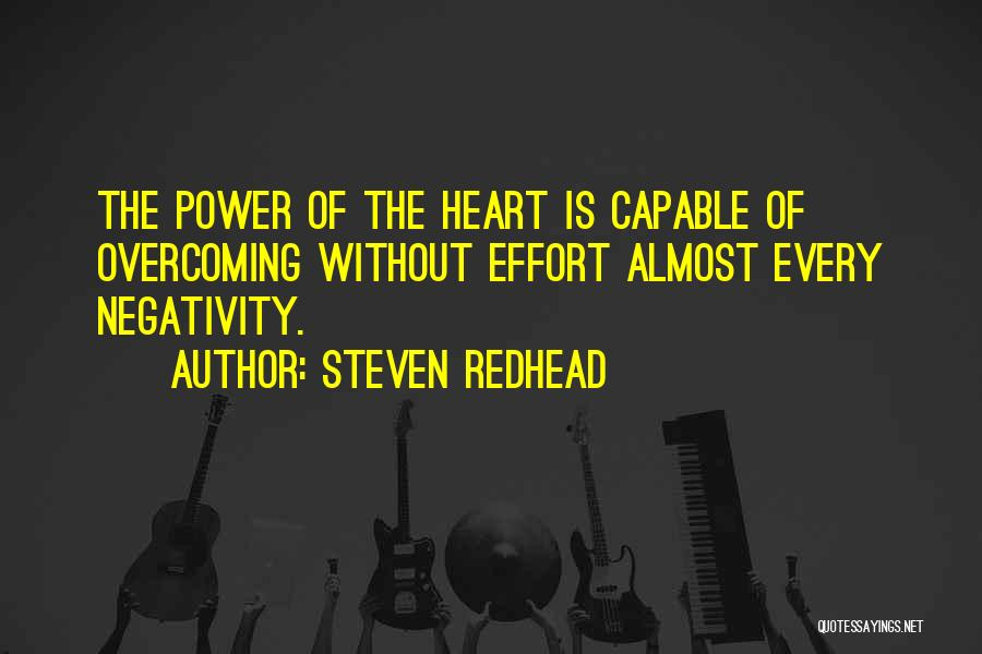 Overcoming Obstacles Quotes By Steven Redhead