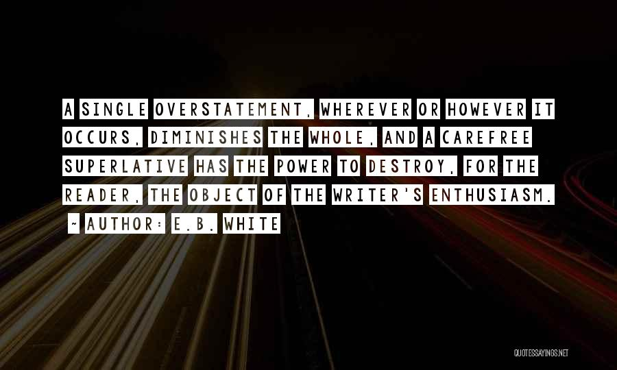 Overstatement Quotes By E.B. White