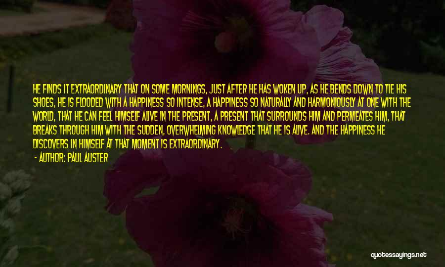 Overwhelming Happiness Quotes By Paul Auster