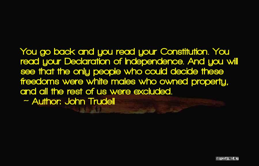 Owned Quotes By John Trudell