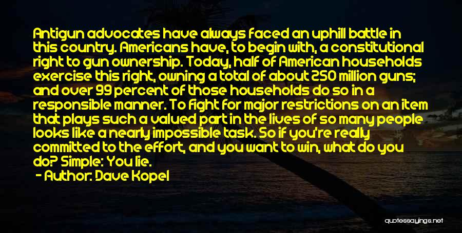 Owning Guns Quotes By Dave Kopel