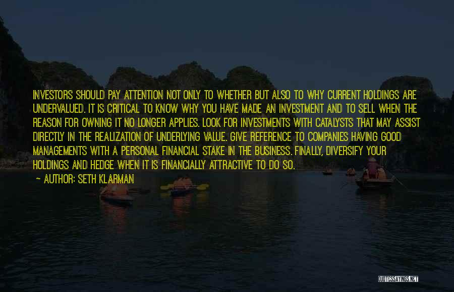Owning It Quotes By Seth Klarman