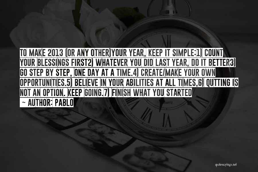 Pablo Quotes 608247