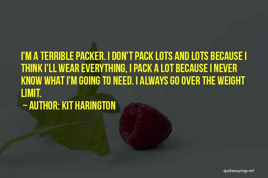 Packer Quotes By Kit Harington