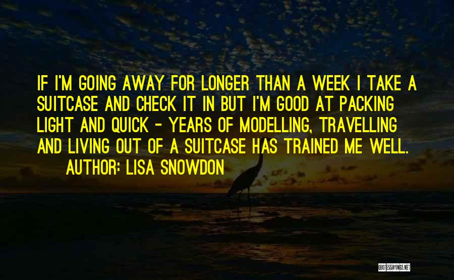 Packing Light Quotes By Lisa Snowdon