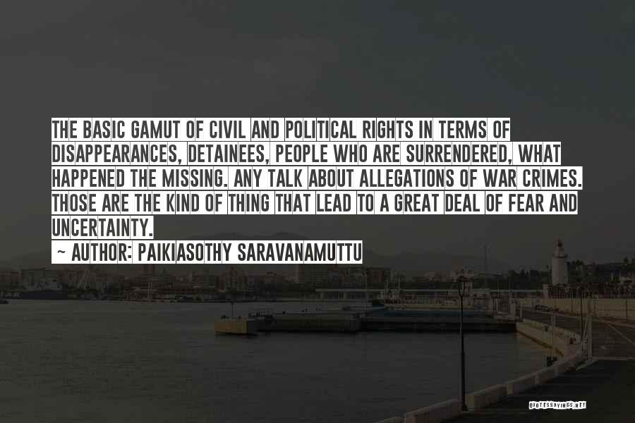 Paikiasothy Saravanamuttu Quotes 762956