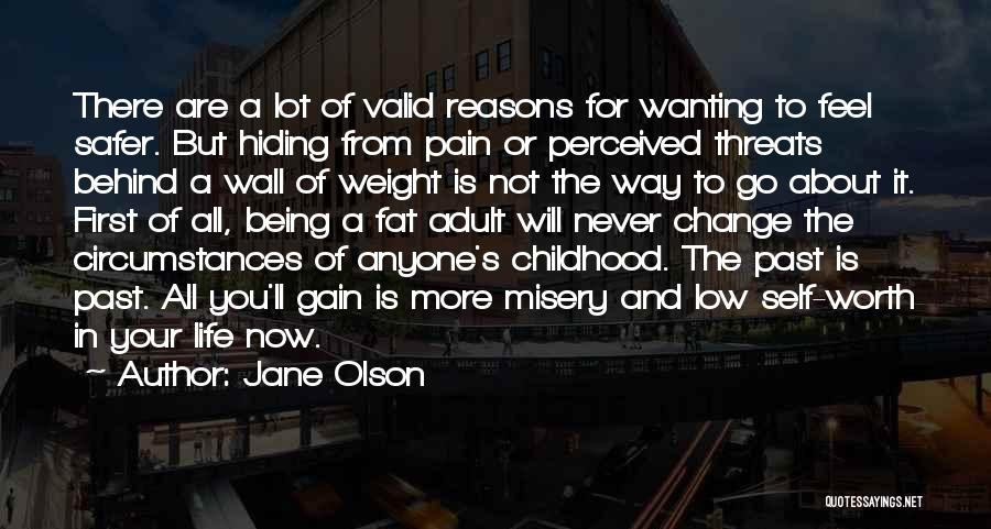 Pain From The Past Quotes By Jane Olson