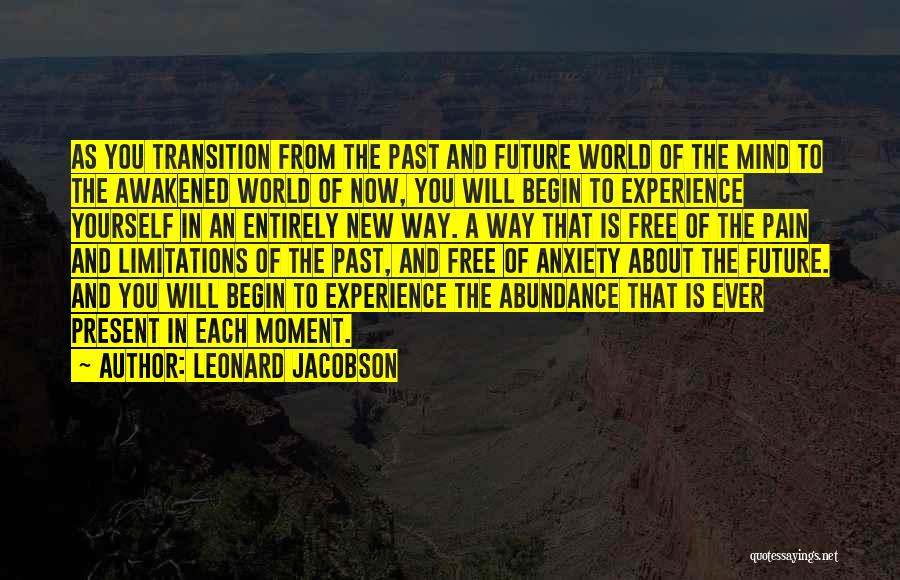 Pain From The Past Quotes By Leonard Jacobson