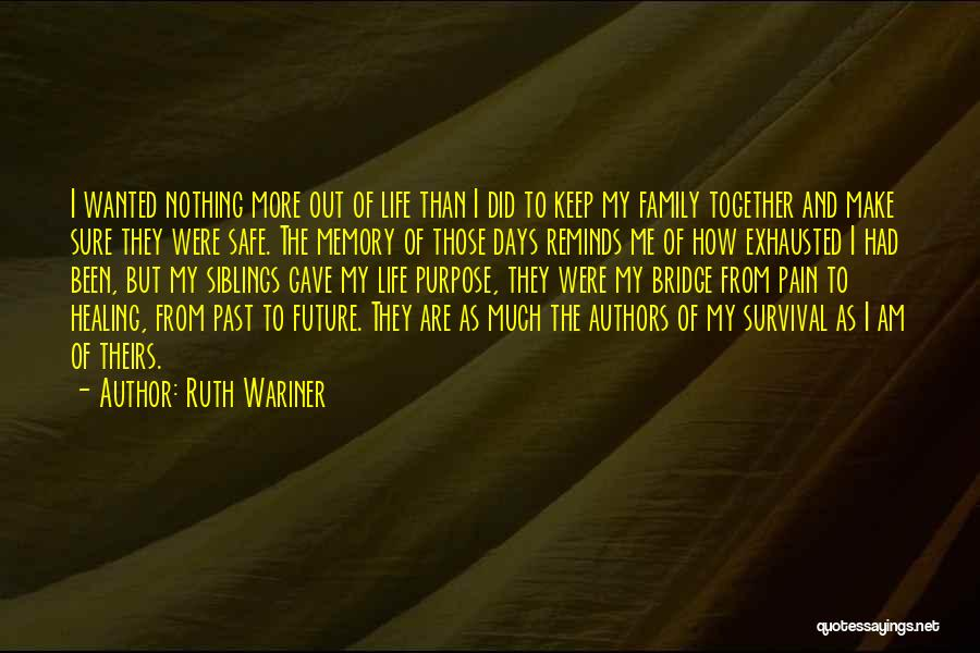 Pain From The Past Quotes By Ruth Wariner