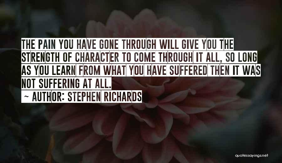 Pain From The Past Quotes By Stephen Richards