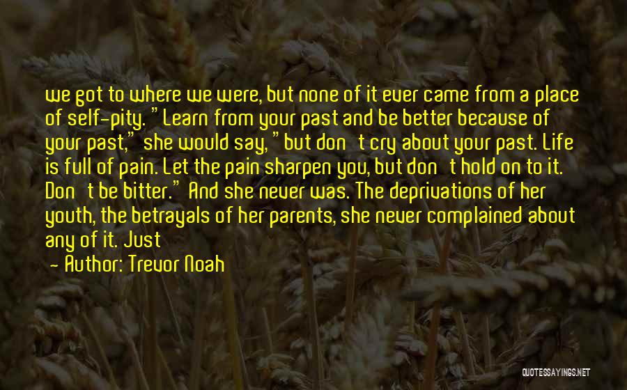 Pain From The Past Quotes By Trevor Noah